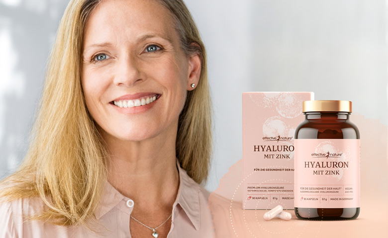 Product image with happy, older woman