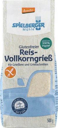 Reis-Vollkorngriess glutenfrei demeter - Spielberger - Bio - 500g