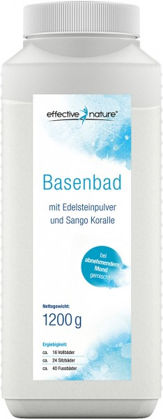 Basenbad mit Edelsteinpulver und Sango Koralle