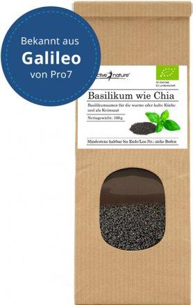 Basilikum wie Chia - Basilikumsamen - Bio - 100g