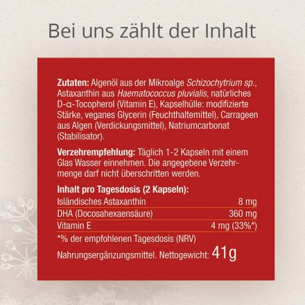 Astaxanthin und DHA vegan Kapseln - 60 Stk. - 41g