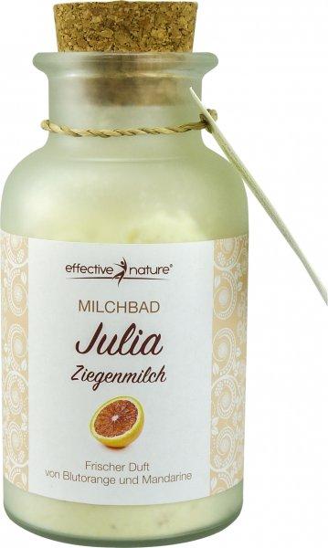 Milchbad Julia - Blutorange und Mandarine - Glas 160g