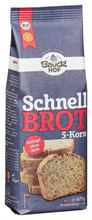 Schnellbrot 5-Korn - Bio - Bauck Hof - 475g