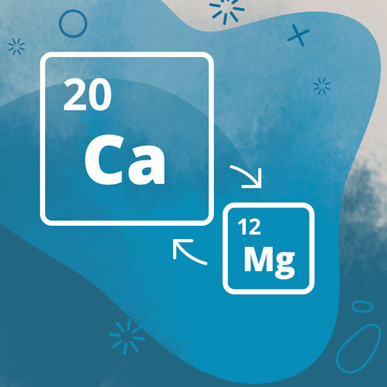 Period number of calcium and magnesium