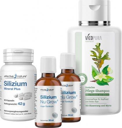 Haarwuchskur mit Silizium