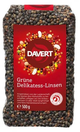 Grüne Delikatess-Linsen - Davert - Bio - 500g