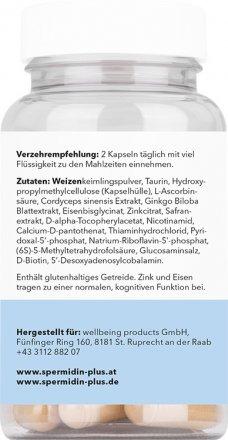 """Spermidin """"Gedächtnis"""" mit Cordyceps und Safran"""