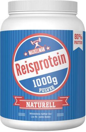 Maskelmän Reisprotein Pulver Naturell 80% - 1000g