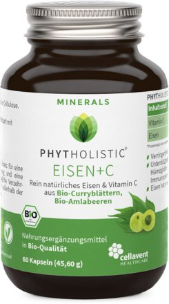 Eisen + Vitamin C Kapseln - Bio - 60 Stk. - 45.6g