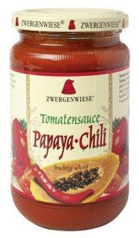 Vegane Tomatensauce mit Papaya und Chili