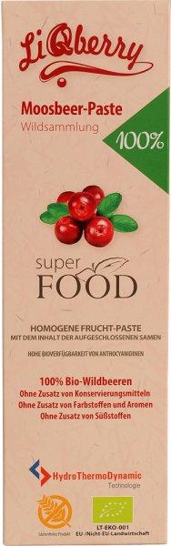LiQberry Paste Moosbeere (Cranberry) - Bio - 500g