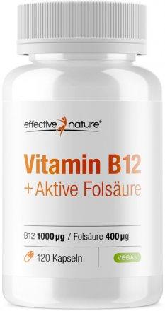 Vitamin B12 und Folsäure Kapseln - 120 Stk. - 66g