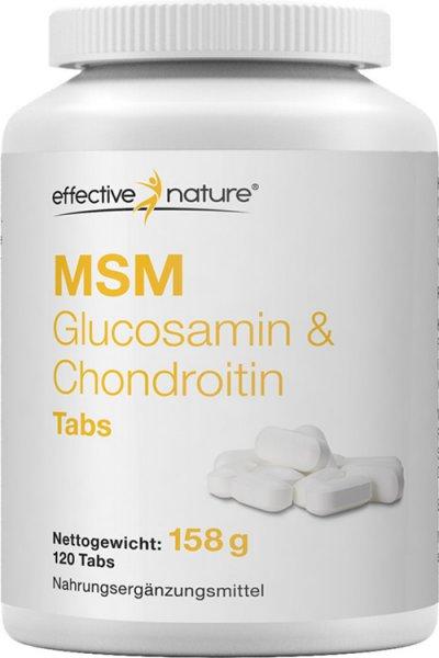 MSM natürlicher Schwefel Tabletten mit Chondroitin & Glucosamin - 120 Stk. - 158g