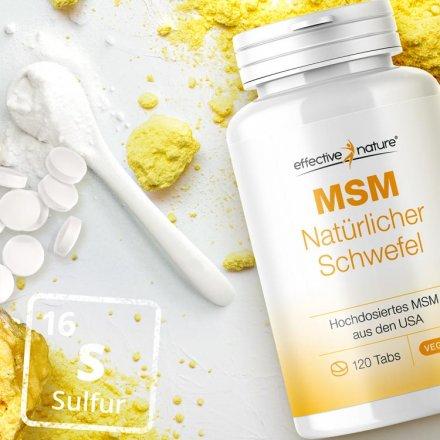 MSM – natürlicher Schwefel – Tabs