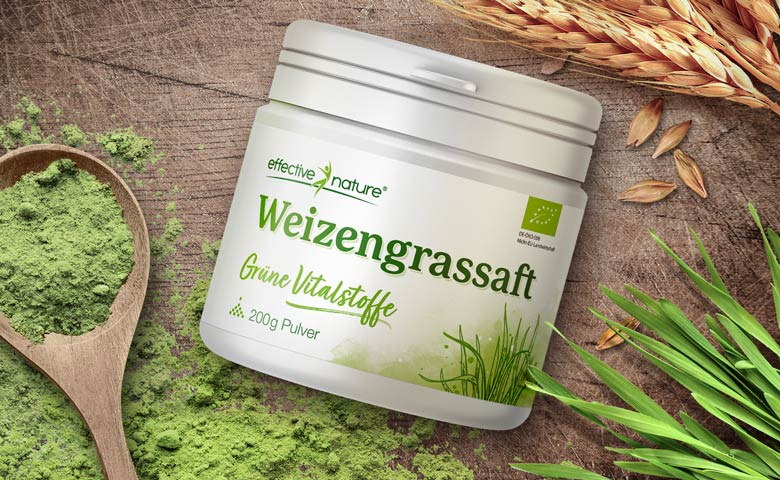 Weizengrassaft Pulver von effective nature