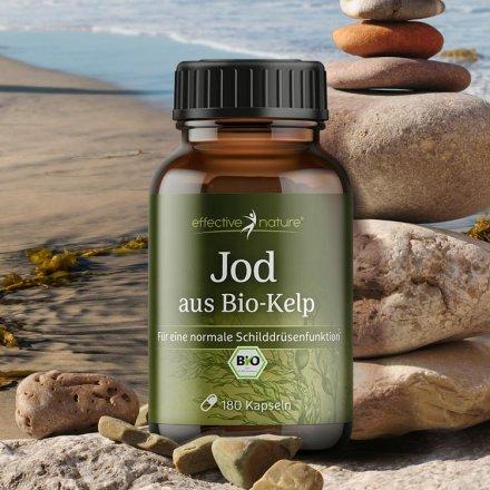 Jod aus Bio-Kelp, 180 Kapseln
