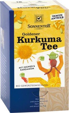 Goldener Kurkuma Tee - Bio - 18 Doppelkammerbeutel