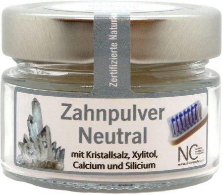 Zahnpulver neutral mit Xylitol und Kristallsalz - 90g