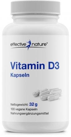 Vitamin D3 Kapseln - 100 Stk. - 22g
