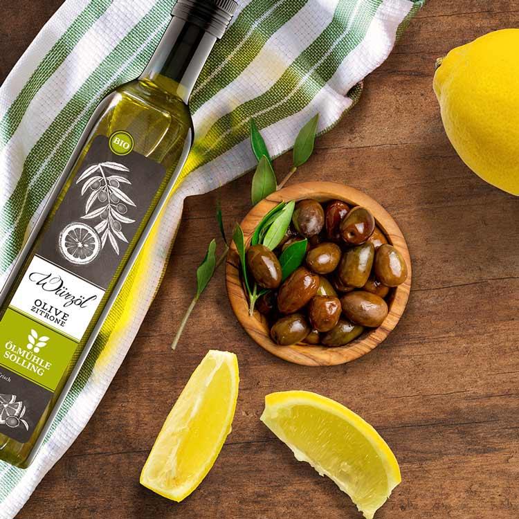 Oliven-Zitronen-Würzöl von Ölmühle Solling