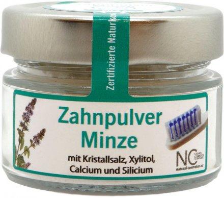 Basisches Zahnpulver mit Minze - ohne Fluorid