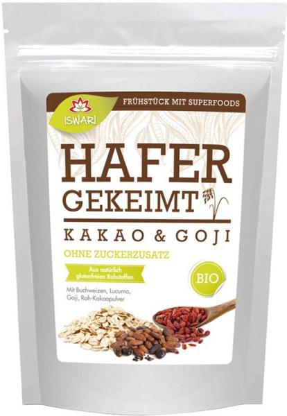 Basenüberschüssiges Frühstück - Gekeimter Hafer - Roh-Kakao - Goji - Bio - 360g