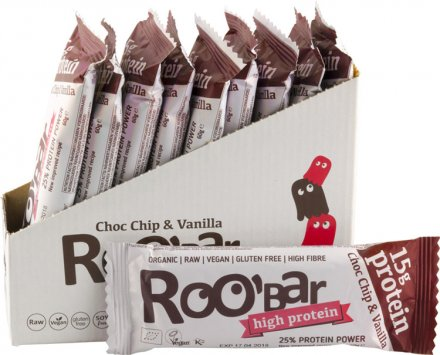 Roo'bar Choco Chip & Vanille Protein Bar