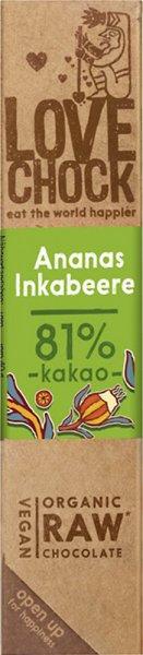 Lovechock Riegel Ananas / Inkabeere - Bio - 40g