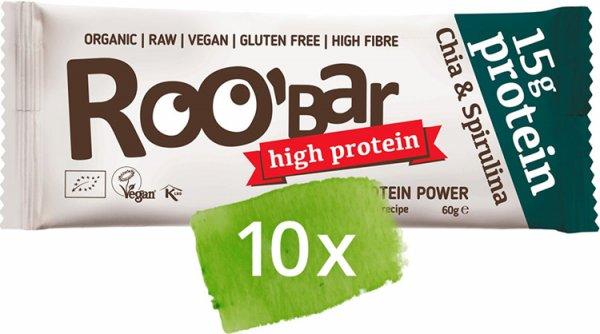 Roobar Chia & Spirulina Protein Bar - Bio - 10 x 60g