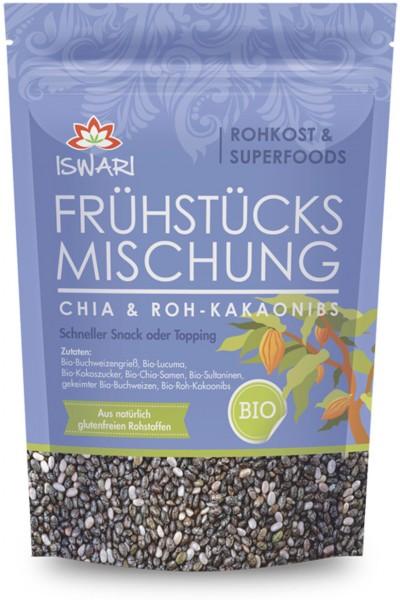 Frühstücksmischung - Chia & Roh-Kakaonibs - Bio - 360g