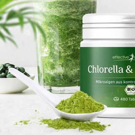 Chlorella & Spirulina - der Bio-Mikroalgenmix
