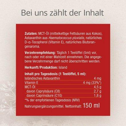 Flüssiges Astaxanthin aus Island - MCT-Öl mit Vitamin E