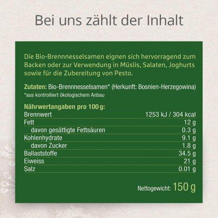 Bio-Brennnesselsamen in Rohkostqualität