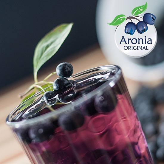 Aronia-Saft-Schorle
