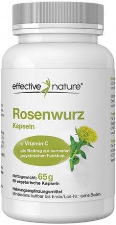 Rosenwurz (Rhodiola rosea) mit Acerola Extrakt Kapseln - 90 Stk. - 65g
