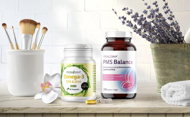PMS Balance und Omega-3 von effective nature
