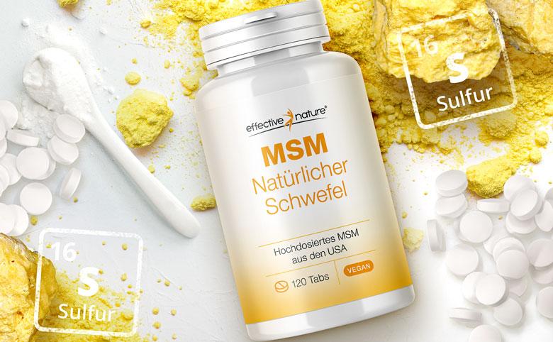 MSM Tabletten Produkt Header