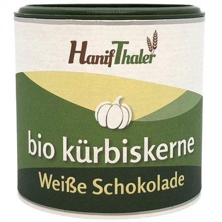 Kürbiskerne-weisse Schokolade - Bio - 100g