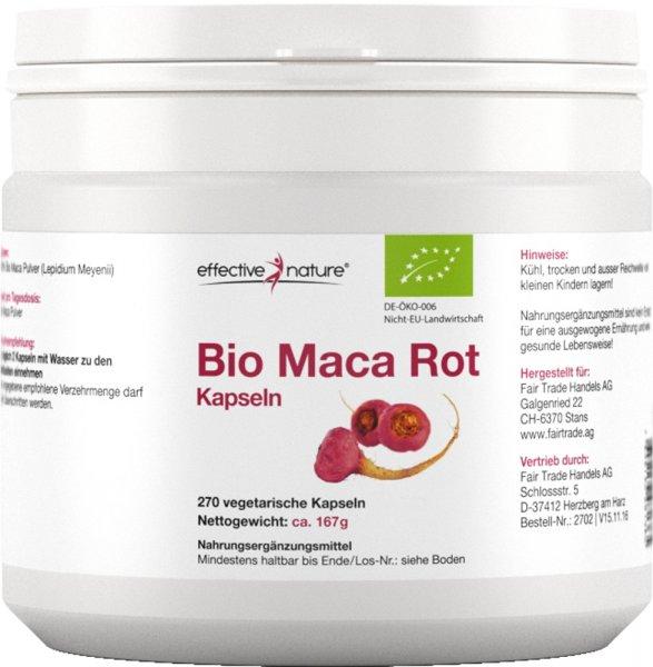 Red Maca Kapseln - Bio - 270 Stk. - 167g
