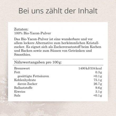 Yacon Wurzel Pulver - Bio - 150g
