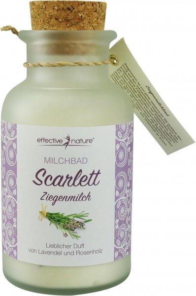 Milchbad Scarlett - Lavendel und Rosenholz - Glas 160g