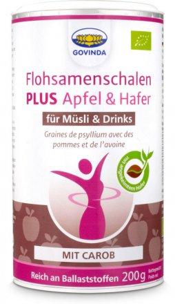 Flohsamenschalen PLUS - Apfel & Hafer mit Carob