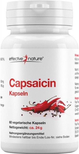 Capsaicin - Cayenne Pfeffer Kapseln - 60 Stk. - 24g