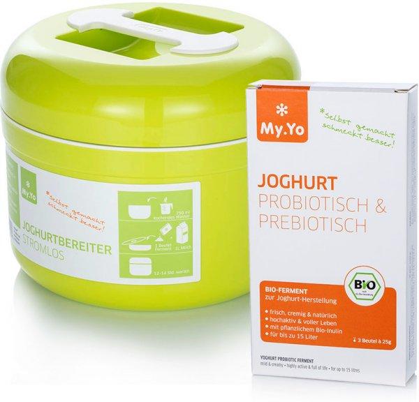 Joghurtbereiter + Joghurtferment Pro-/Prebiotisch