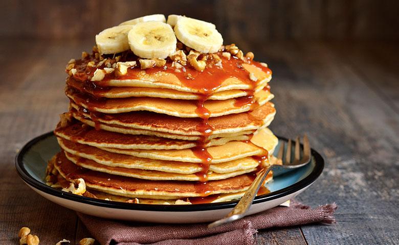 Pancakes mit Kokosblütensirup