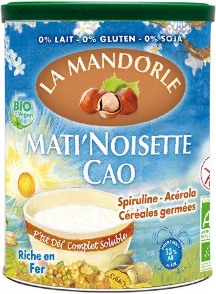 Frühstück mit Kakao-Haselnuss (Mati Noisette Cao) - Bio - 400g