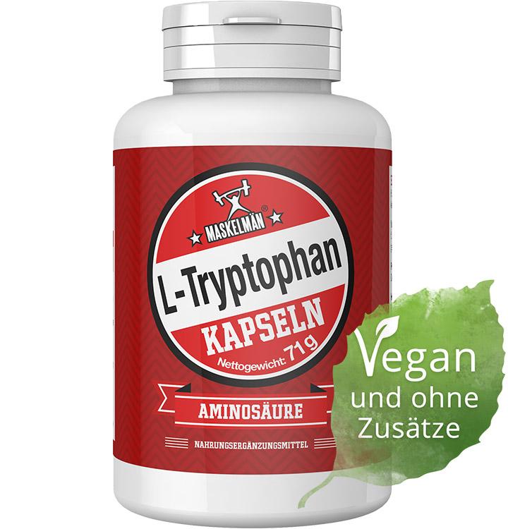 l tryptophan aminos uren von maskelm n in veganen kapseln. Black Bedroom Furniture Sets. Home Design Ideas