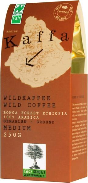 Kaffa Wildkaffee medium gemahlen - Bio - 250g