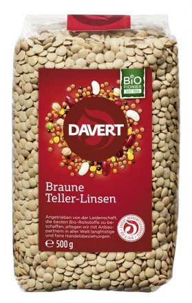 Braune Teller-Linsen - Davert - Bio - 500g