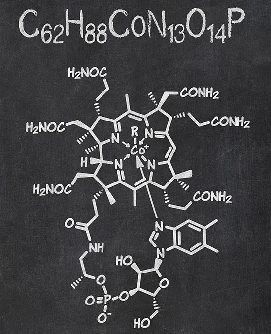 Chemische Struktur von B12